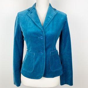 Teal Velvet Blazer 0 GAP Jacket Business Career